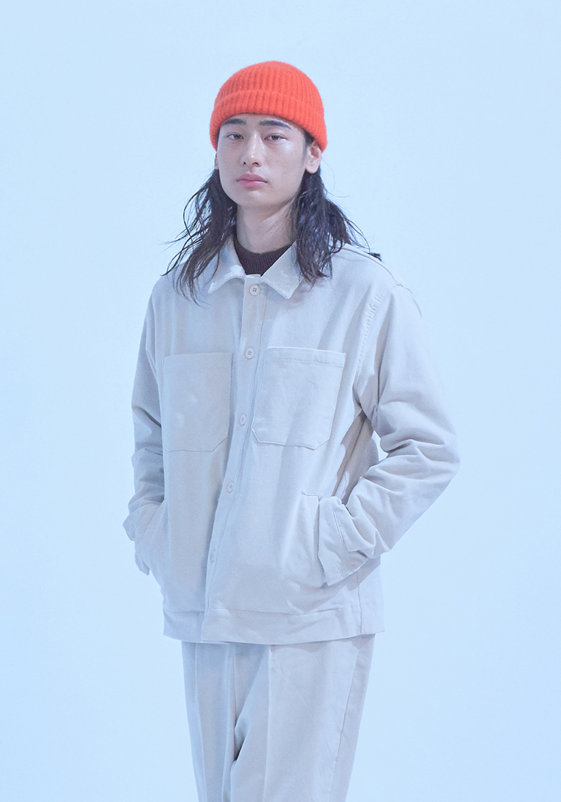 [브아빗x노승화] VG0006 4POCKET CORDUROY SHIRT JACKET  IVORY